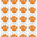 Teacher Created Resources TCR4486 Orange Paw Print Stickers