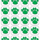 Teacher Created Resources TCR4542 Green Paw Print Stickers