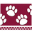 Teacher Created Resources TCR4759 Maroon With White Paw Prints - Straight Border Trim