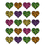Teacher Created Resources TCR5200 Leopard Print Heart Stickers