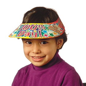 Teachers Friend TF-1576 Visors 100Th Day 30/Pk Plastic Coated, Price/EA