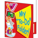 Teachers Friend TF-1730 Pocket Folder My To Do Folder 8-1/2 X 11 Plastic-Coated