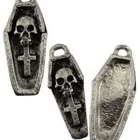 AzureGreen Voodoo Coffin Amulet