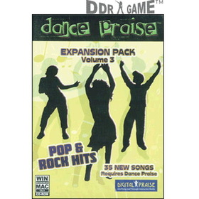 DDR Game Dance Praise Expansion Pack 3: Pop & Rock Hits Dance Game for PC/Mac (Game Only)