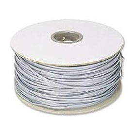 Ziotek 1000ft. Telephone RJ11 (RJ12)  4-Wire Bulk Cable, Silver Satin ZT1800480