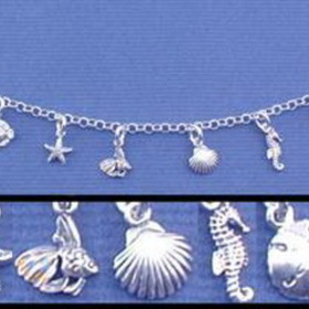 Engraved Gifts Direct 500297 Sea Life Charm Bracelet