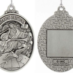 Engraved Gifts Direct 501076 Pewter Trumpeting Angels Ornament