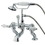 Kingston Brass CC412T1 Deck Mount Clawfoot Tub Filler with Hand Shower, Polished Chrome