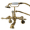 Elements of Design DT0512AL Wall Mount Clawfoot Tub Filler with Hand Shower, Polished Brass