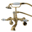 Elements of Design DT0512CL Wall Mount Clawfoot Tub Filler with Hand Shower, Polished Brass