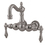 Elements of Design DT10018AL Wall Mount Clawfoot Tub Filler, Satin Nickel Finish