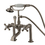 Elements of Design DT1038AX Deck Mount Clawfoot Tub Filler with Hand Shower, Satin Nickel