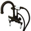 Elements of Design DT30135PL Wall Mount Clawfoot Tub Filler with Hand Shower, Oil Rubbed Bronze Finish