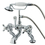 Elements of Design DT4101AX Deck Mount Clawfoot Tub Filler with Hand Shower, Polished Chrome