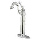 Elements of Design EB1421BL Single Handle Vessel Sink Faucet with Optional Cover Plate, Polished Chrome
