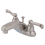"""Elements of Design EB8628FL Two Handle 4"""" Centerset Lavatory Faucet with Brass Pop-up, Satin Nickel"""