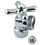 """Elements of Design ECC13001X Angle Stop with 1/2"""" IPS x 3/4"""" Hose Thread, Polished Chrome Finish"""