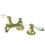 "Kingston Brass KS4462PL Two Handle 8"" to 16"" Widespread Lavatory Faucet with Brass Pop-up, Polished Brass"