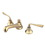 "Kingston Brass KS4462ZL Two Handle 8"" to 16"" Widespread Lavatory Faucet with Brass Pop-up, Polished Brass"