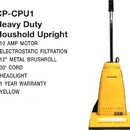 Carpet Pro CPU1, Vac, Upright Vacuum 10A 30' Cord Metal B/R & Handl