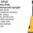 Carpet Pro CPU2, Vac, Upright Vacuum 10A 40' 3-Wire Cord