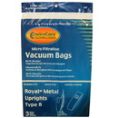 Royal 847, Paper Bag, Type B Metal Upright Micro Env 3PK