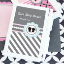 Event Blossom EB2023GR Gender Reveal Party Personalized Notebook Favors