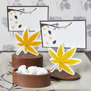 Event Blossom EB2090 Leaf Place Card Favor Boxes with Designer Place Cards (set of 12)
