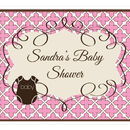 Event Blossom EB3003BP Pink Baby Shower Party Sign