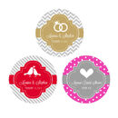 Event Blossom EB4007MDT Personalized MOD Theme Silhouette Round Favor Labels