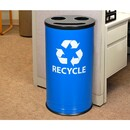 Ex-Cell Kaiser RC-1528-3 RBL/BLK Smiley 3 Stream Recycling Receptacle
