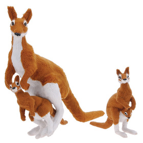 Furry Animal Kingdom K916 KANGAROO-Large with Joey