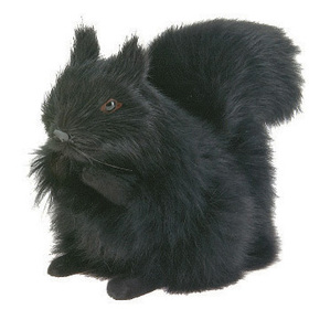 Furry Animal Kingdom SQ1959 SQUIRREL-Large black