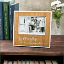 FashionCraft 12068 Family Frame with Bamboo finish and laser engraving
