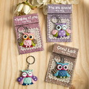 FashionCraft 12615 Gifts Sentimental Owl Key Ring, 12/Pack
