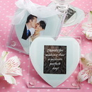 FashionCraft 4147 Heart Design Glass Photo Coaster Favors
