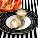 FashionCraft 4456SM Personalized Metallic collection Gold metal mint tin with a clear plastic top