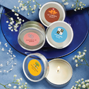 FashionCraft 4705ST Personalized Expressions Collection Scented Round Travel Candles