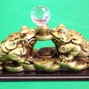 Feng Shui Import Crystal Ball Money Toads - 1252