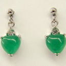 Feng Shui Import Jade Earrings - 1385