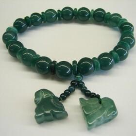 Feng Shui Import Green Jade Bracelets w/ Pi Yao - 2140