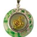Feng Shui Import Golden Snake Pendant - 3162