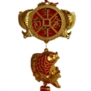 Feng Shui Import New Year Decoration Charm - Good Luck Fish and Fortune Coin - 4166