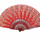 Feng Shui Import Red Hand Fan - 4657