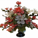 Feng Shui Import Jade Peony Bouquet with Vase - 4676
