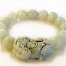 Feng Shui Import 4738 Jade Bracelet with Big Pi Yao