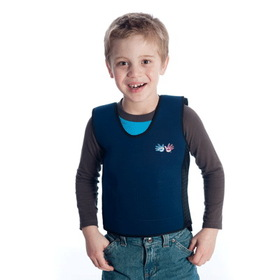 Fun and Function WR1811 Small Weighted Compression Vest Blue