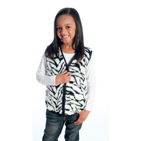 Fun and Function WR3455 Large Zebra Fur Weighted Vest