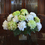 Floral Home Decor Green and White Hydrangea Silk Flower Arrangement AR332