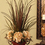 Floral Home Decor Pheasant Feathers with Grasses, Hydrangea NC132